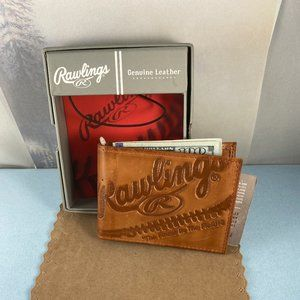 Rawilings Vintage Leather Tan Money Clip Wallet